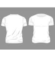 White Male T-shirt Design vector image