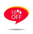 discount badge label 10 percent off vector image