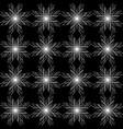 monochrome geometrical pattern of stars vector image