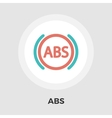 ABS flat icon vector image vector image
