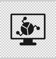 analytic monitor icon in transparent style vector image vector image