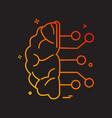 artificia brain ic intelligence icon design vector image vector image