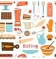 Baking wallpaper vector image vector image