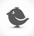 black bird icon vector image