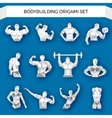 Bodybuilding Polygonal White vector image