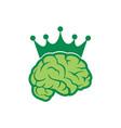 brain king abstract green logo icon vector image vector image