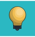 bulb light education icon vector image vector image
