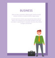 business funny neatly-dressed businessman vector image