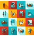 Business Training Icons Flat Set vector image
