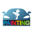 car painting design vector image vector image