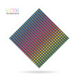carbon with rainbow colors vector image vector image