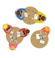 cartoon team meeting collection vector image