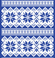 christmas winter seamless navy blue pattern vector image vector image