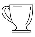 coffee mug icon outline style vector image