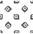 computer cpu processor chip pattern seamless black vector image