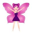 cute magic fairy fantasy creature vector image