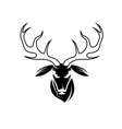 deer head design template vector image vector image