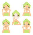 different types of facial cosmetic masks vector image vector image