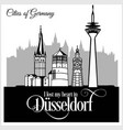 dusseldorf - city in germany detailed vector image vector image