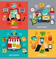 e-commerce flat design concept vector image vector image