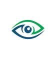 eye abstract logo designs vector image
