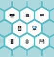 flat icons amplifier laptop monitor and other vector image