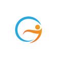 fun people healthy life logo template icon vector image