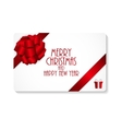Gift Card with Bow and Ribbon vector image vector image