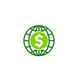 globe money logo icon design vector image vector image