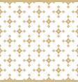 golden geometric seamless pattern with stars vector image vector image