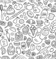 Hand drawn Bakery Seamless Pattern vector image vector image