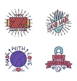 Handmade needlework badge logo vector image