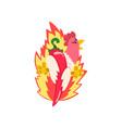 hot spicy fire chicken creative logo design vector image vector image