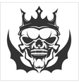 King skull wearing crown vector image vector image