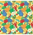 Kitchen seamless pattern in cartoon style vector image vector image