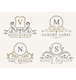 luxury logo template shield business sign vector image vector image