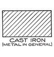 Mechanical drawing cross hatching of cast iron