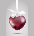 metal romantic decoration with a ribbon on vector image vector image
