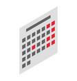 Office calendar icon isometric style