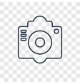 old camera concept linear icon isolated on vector image