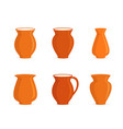 pottery jugs set vector image