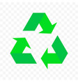 recycling triangle arrow cycle icon eco waste vector image vector image