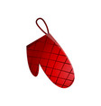 red striped kitchen glove for taken hot food vector image