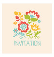 retro style flowers in pastel color floral folk vector image vector image