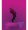 rock guitarist poster vector image vector image