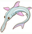 saw shark vector image
