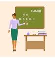 School Chemistry female teacher vector image