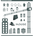 set icons building and houses vector image