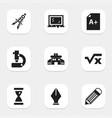set of 9 editable school icons includes symbols vector image vector image