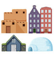 set of different house vector image vector image